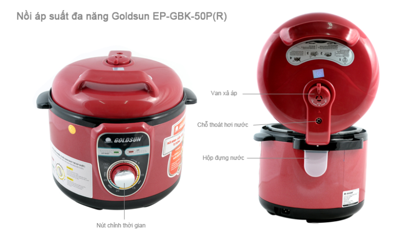 Địa chỉ cấp I bán nồi áp suất điện Goldsun EP GBK 50P chính hãng ở Hà Nội